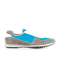 Car Shoe Panelled Sneaker Blue