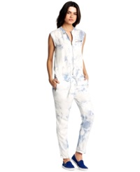 Kiind Of Natasha Cap Sleeve Acid Wash Jumpsuit Cloud Wash
