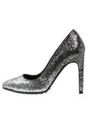 Evenandodd High Heels Black Silver
