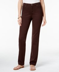 Styleandco. Style Co. Tummy Control Colored Wash Straight Leg Jeans Only At Macy's Rich Truffle