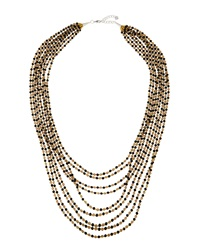 Nakamol Multi Strand Crystal Bead Necklace Red