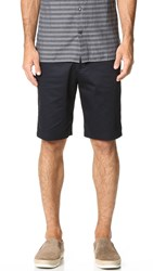 Vince Cotton Sateen Urban Shorts Navy