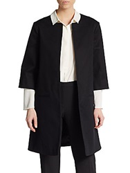 Textured Stretch Cotton Jacket Black