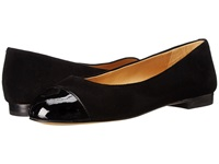 Trotters Chic Black Suede Patent Leather Women's Slip On Shoes