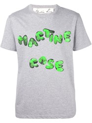 Martine Rose 'Finger Print' T Shirt Grey