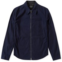 Rag And Bone Daltry Zip Shirt Jacket Blue