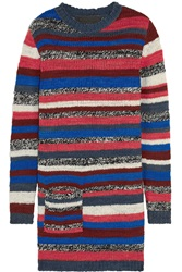 The Elder Statesman Rockin Moroccan Striped Cashmere Mini Sweater Dress