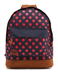 Mi Pac Polka Dot Backpack Navy