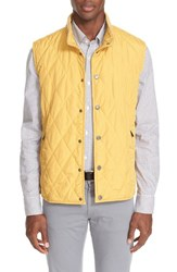 Paul And Shark Men's Rib Collar Diamond Quilted Water Repellent Vest