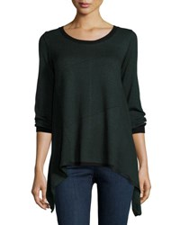 Max Studio Asymmetric Hem Colorblock Sweater Black H.