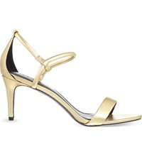 Sandro Amel Leather Heeled Sandals Or