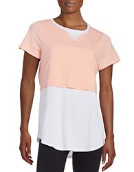 Marc New York Layered Performance Tee Apricot White