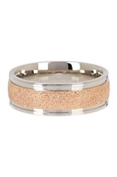 Stephen Oliver 18K Rose Gold And Trim Ring Metallic