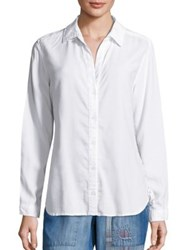 Bella Dahl Solid Long Sleeve Shirt White