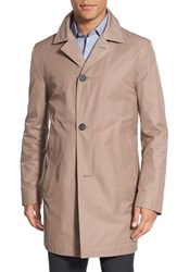 Boss Men's 'Dais' Cotton Blend Rain Coat Medium Beige