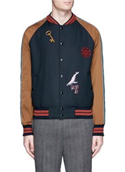 Lanvin Embroidery Patch Teddy Jacket Multi Colour