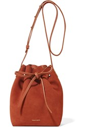 Mansur Gavriel Mini Suede Bucket Bag Brick