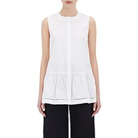 Barneys New York Women's Poplin Peplum Blouse White