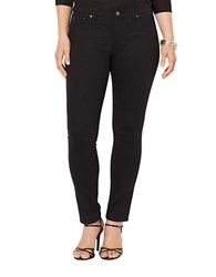 Lauren Ralph Lauren Plus Super Stretch Slimming Modern Skinny Jeans Black