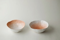 Small Peach Fade Bowl Set Par Upintheairsomewhere Sur Etsy