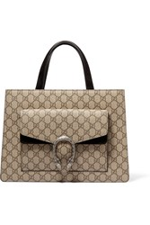 Gucci Dionysus Medium Coated Canvas And Suede Tote Beige