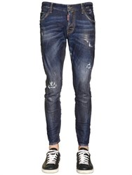 Dsquared2 16Cm Sexy Twist Waxed Stretch Jeans