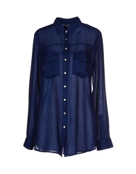 Kaos Jeans Shirts Shirts Women Dark Blue