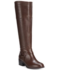 Alfani Biliee Tall Wide Calf Riding Boots Only At Macy's Women's Shoes Dark Roast