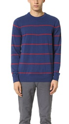Ben Sherman Striped Crew Sweater Marine Marl