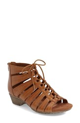 Women's Cobb Hill 'Gabby' Lace Up Sandal Tan Leather