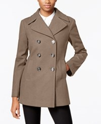 Kenneth Cole Double Breasted Peacoat Only At Macy's Coffee
