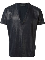 Etro V Neck T Shirt Blue