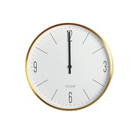 House Doctor Wall Clock Gold White