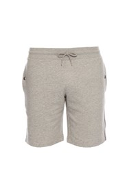 Moncler Relaxed Cotton Shorts Grey