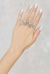 Nasty Gal Crystal Fusion Multi Finger Ring