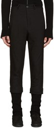 Isabel Benenato Black Layered Trousers