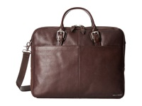 Cole Haan Pebble Zip Top Attache Chocolate Briefcase Bags Brown