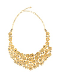 Lydell Nyc Golden Flower Bib Necklace