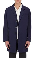 Barena Venezia Poplin Three Button Coat Blue Size 48 Eu