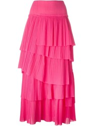 Sonia Rykiel Tiered Pleat Skirt Pink And Purple