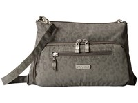 Baggallini Everyday Bagg Pewter Cheetah Cross Body Handbags