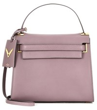 Valentino My Rockstud Leather Cross Body Bag Purple