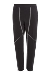 Alexander Mcqueen Cotton Sweatpants With Contrast Stitching Black