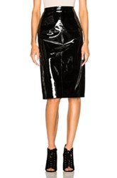 Lanvin Patent Leather Skirt In Black
