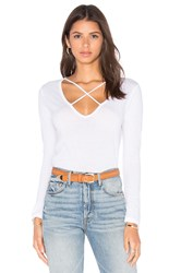 Lna X Revolve Long Sleeve Cross Tee White