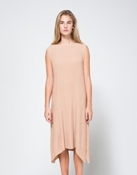 Objects Without Meaning Knife Pleat Dress Nude