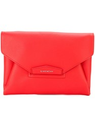 Givenchy Medium 'Antigona' Clutch Yellow And Orange