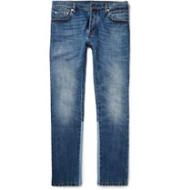 Valentino Slim Fit Panelled Stretch Denim Jeans Blue