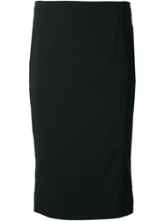 Viktor And Rolf Classic Pencil Skirt Black