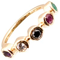 Haathi House Adore Bezel Ring Gold